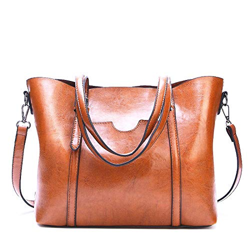 7faed265d CDRIC 2019 New Women's Vintage Style Soft Leather Work Tote Large Shoulder  Bag Female Large Tote