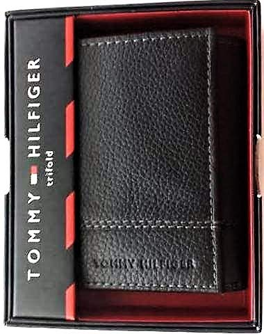Tommy Hilfiger Trifold Wallet, Black or Chocolate Brown