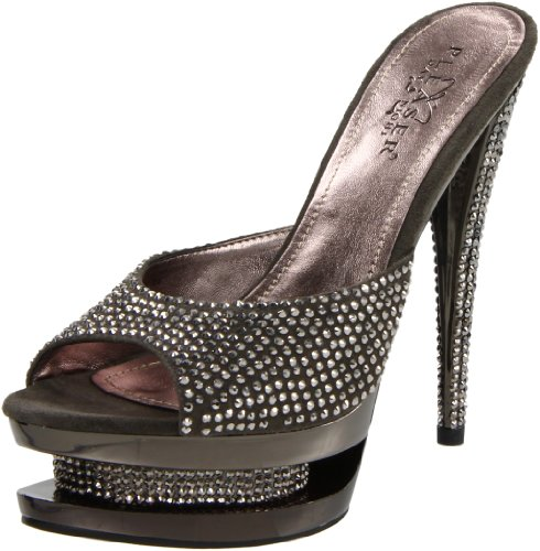 M Dark GYS Sandal Suede Pewter Pleaser Women's Fascinate Grey Platform 601DM Dark Grey qSUIRp