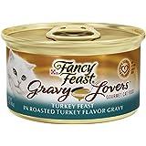 Fancy Feast Wet Cat Food, Gravy Lovers, Turkey Feast in Roasted Turkey Flavor Gravy, 3-Ounce Can, Pack of 24