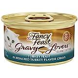 Purina Fancy Feast Gravy Wet Cat Food; Gravy Lovers Turkey Feast in Roasted Turkey Flavor Gravy - 3 oz. Can (24-Pack)
