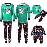 Family Homewear Christmas Pajamas Xmas Pajamas Sets Cartoon Snowman Sleepwear Sets Kids Boys Nightwear PJS Set Outfit