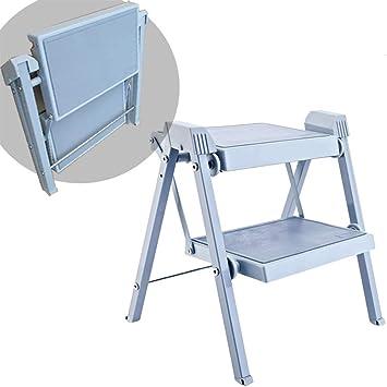 Escalera de 2 peldaños para Trabajo Pesado, ensanchamiento y Engrosamiento del Taburete Plegable con peldaño Antideslizante, Ideal para el hogar/la Cocina/el Garaje: Amazon.es: Electrónica
