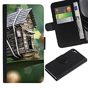 A-type Arte & diseño plástico duro Fundas Cover Cubre Hard Case Cover para Samsung Galaxy S3 (House Nature Wood Craft Spring Summer)