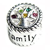 Queenberry Sterling Silver Family Love Tree Of Life Bead Charm For European Charm Bracelets
