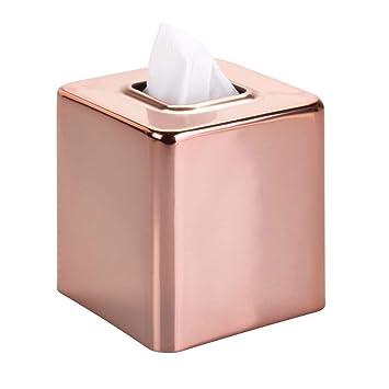 mDesign Fundas para cajas de pañuelos de metal – Práctico dispensador de pañuelos para el baño