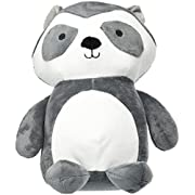 Bedtime Originals Little Rascals Raccoon Plush Ringo, Black/White