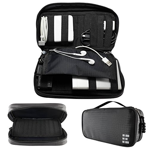 Electronics Organizer - Accessory & Cord Travel Case, Dark Shadow (Gift Card Electonic compare prices)
