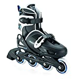 Xootz Boy's Inline Skates Adjustable And Padded Roller Blades - Black, Size 1-4