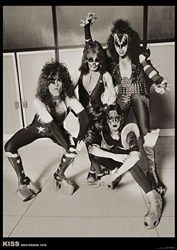 Kiss Amsterdam 1976 Music Album Rock Roll Vintage Cool Wall Decor Art Print Poster 23.5x33
