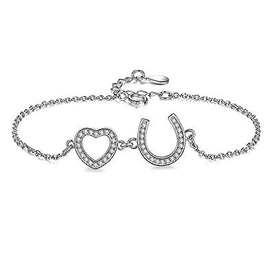 Cara Z Sterling Silver Charm Bracelet With Horseshoe - Fine Jewellery For Women fWawtK