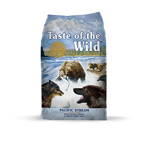 Taste of the Wild Pacific Stream Grain Free Protein Real Meat Recipe Natural Dry Dog Food with Real Smoked Salmon 28lb (Best Real Food For Dogs)