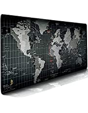 JB Invention Waterproof Extended Large Gaming Mouse Pad xxl (900x400x3mm) - Portable, Perfectly Stitched Edges World Map Designed mouse pad | Laptop pad | Desk Pad | Table mat - Anti Slip Rubber Base