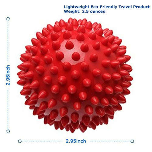 Massage Ball - Physical Therapy Equipment - Spiky for Deep Tissue Foot, Back, Plantar Fasciitis & All Over Body Deep Tissue Muscle Therapy (Equipment Therapy Massage)
