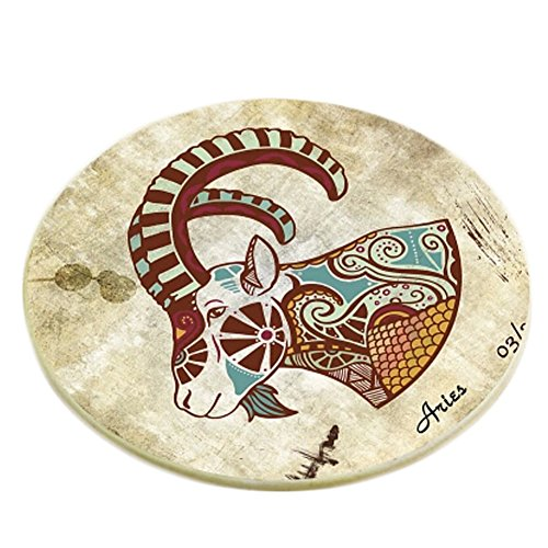 Creative Set of 6 Round Placemat Drink Holder Cup Coaster Cup Tray, C