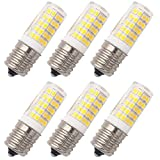 Grv E17 Led Bulb Microwave Oven Light 4W AC 110V -120V 64-2835 SMD Ceramics Bulbs Dimmable 40W Equivalent Replacement Incandescent Bulb Warm White Pack of 6