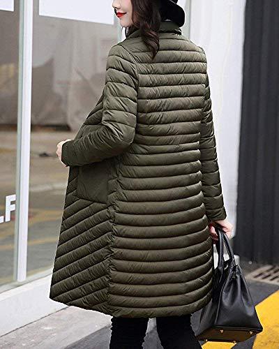 Nero Coat Da Winter Parka colore Oudan large Verde Piumino Donna X Dimensione Lungo 4qx1f8wC