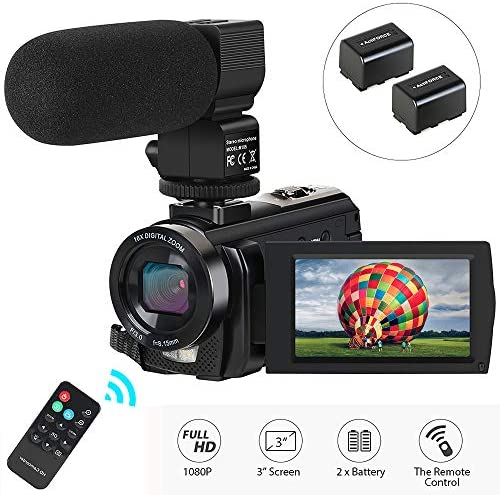 Camcorder Recorder Microphone Rotatable Batteries product image