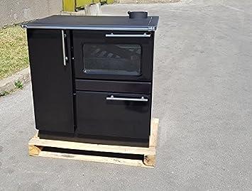 Estufa de cocina de leña estufa horno 9/15 kw PLAMAK esmalte negro ...