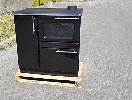 Estufa de cocina de leña estufa horno 9/15 kw PLAMAK esmalte negro: Amazon.es: Bricolaje y herramientas