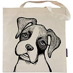 Duncan the Boxer Tote Bag by Pet Studio Art