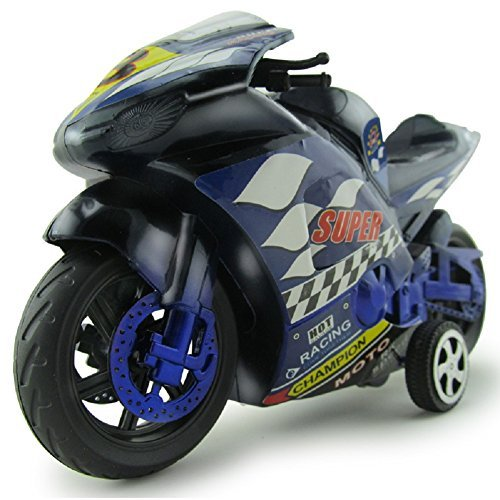 Xiaguocai Inertia Motorcycle Toys 4 wheels motorbike for Boys and Girls, Toddler and Up