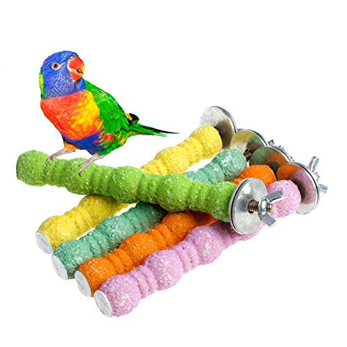 NNDA CO Pet Bird Bites Parrot Chew Toys Cage Hanging Cockatiel Parakeet Stand Platform,1 (Hanging Parakeets)