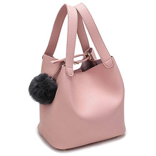 Negro Pink Las Bolso Holgura Bolso Bolso Cucharabolso Hombro Señoras De Nuevo Meaeo De La De Doble De x6Sqa5Iw5