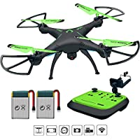 Drones with Camera Live Video - Honor-Y FPV Remote Control Quadcopter Drone with One-key Land and Headless Mode 720P HD Camera for Adults Beginners ( Green )