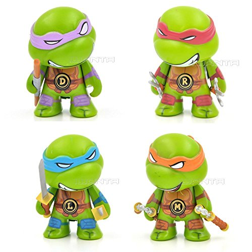 """4pcs/set 7cm/2.8"""" Teenage Mutant TMNT Action Figure Q Version"""