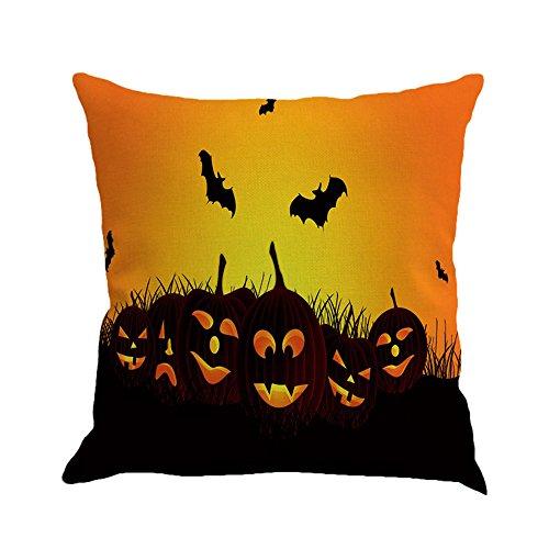 Mosunx Halloween Ghost Pumpkin Pillow Case Sofa Waist Throw Cushion Cover Home Decor (Halloween Alien Cocoon)