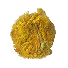 Recycled Sari Silk Super Bulky Yarn - Yellow (100 Grams)