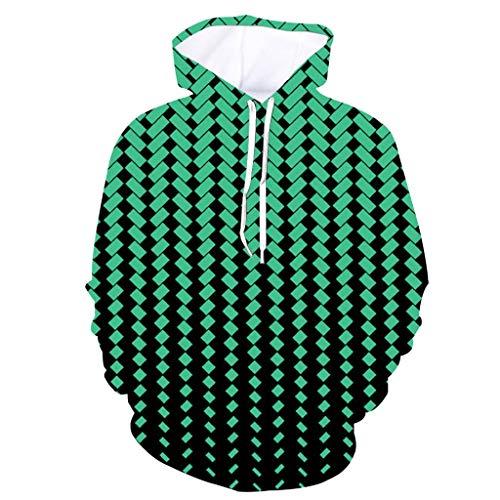 - Colorful 3D Unisex Sweatshirt Hoodies, Vine_MINMI Jacket Long Sleeve Hooded Coat Blouse Regular Stripes Sweater Mint Green