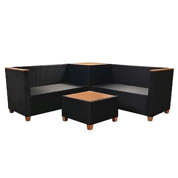 WEILANDEAL Set de Sofas de Jardin 14 Piezas de Ratan ...