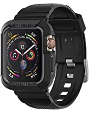 Spigen apple Watch 44mm Series 4 Rugged armor PRO cover/case with Band - Black