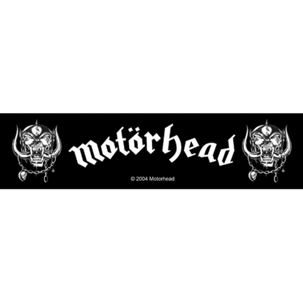 Motorhead War Pigs Superstrip Patch Black 20x5.5cm Officially Liscenced Product