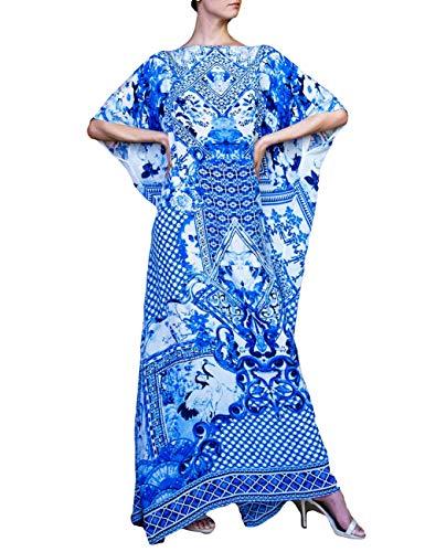 - Bsubseach Women Ethnic Print Plus Size Caftan Swimsuit Cover ups for Swimwear Kaftan Beach Maxi Dress