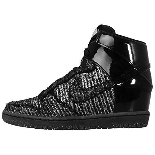 Nike Dunk Sky HI VT QS Womens Basketball Shoes 611908-001 Black Metallic Silver 8.5 M US