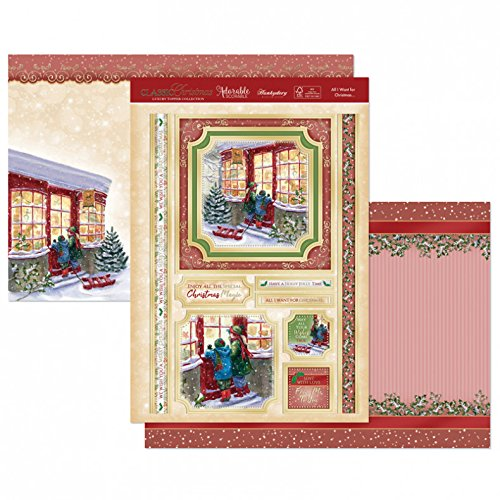 Hunkydory Classic Christmas- All I Want for Christmas List 3-pc Topper Collection