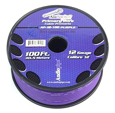 12 GA gauge 100' Purple Audiopipe Car Audio Home Primary Wire LED