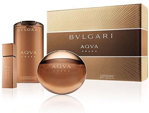 BVLGARI Aqva Amara Premium Gift Set, 3.3 Fluid Ounce