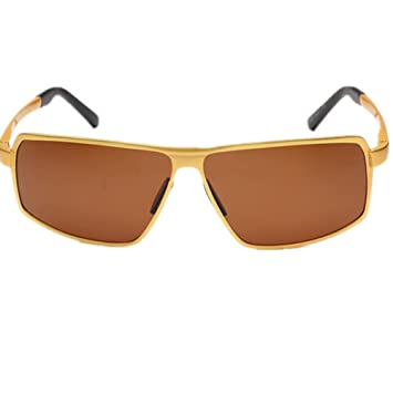 HETAO personalidad Nuevo Gafas De Sol Polarizadas Hombre Gafas De Sol Conducir Espejo , gold Vidrios