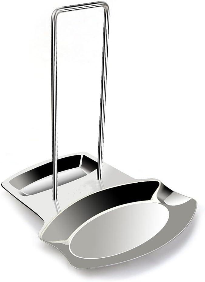 Stainless Steel Lid and Spoon Rest, Utensils Lid Holder Spoon Holder Lid Rest Lid Shelf Kitchen Utensils Holder,Soup Spoon Rack