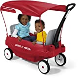 Radio Flyer Deluxe Family Canopy Wagon 8.5'' Dura-Tred tires for a quiet ride