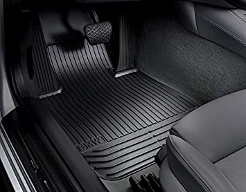 aead51310579 BMW Genuine Front Rubber Floor Mats LHD for 5 GT F07 - Black or ...