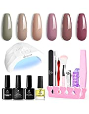 Gel Nail Polish Kit with U V Light 48W LED Nail Lamp