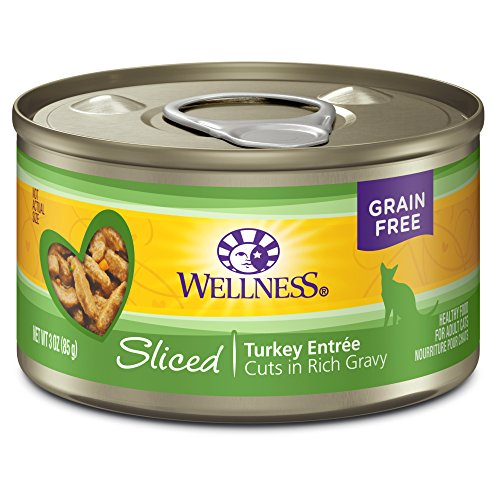 Wellness Complete Health Natural Grain Free Wet Canned Cat Food, Sliced Turkey Entrée, 3-Ounce Can (Pack Of 24)