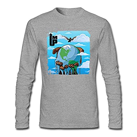 YangJJ Men's Young Thug I'm Up Long Sleeve T shirts Size S Grey (What Did Kanye)