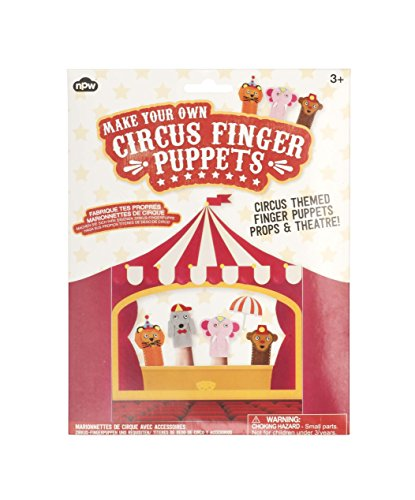 NPW-USA Make Your Own Circus Finger Puppets Craft Kit