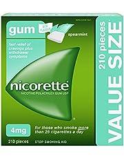 Nicorette Gum, Nicotine 4 Mg, Spearmint Flavour, Quit Smoking Aid And Smoking Cessation Aid, 210 Count